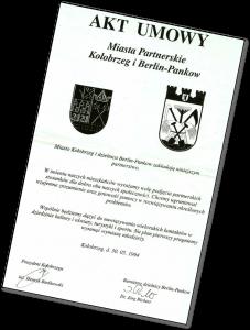 Gründungsdokument Städtepartnerschaft