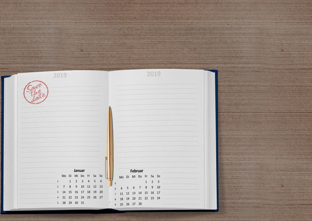 Kalender 2019, Bild: Pixabay, darkmoon1968