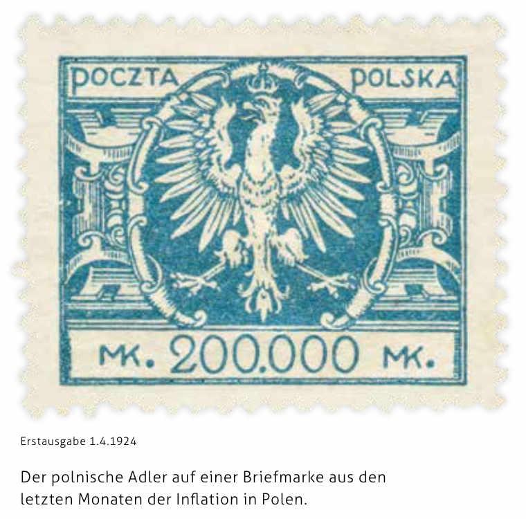 Briefmarke, die auch in der Ausstellung des DPI zu sehen ist. Quelle: Deutsch Polnisches Institut Darmstadt