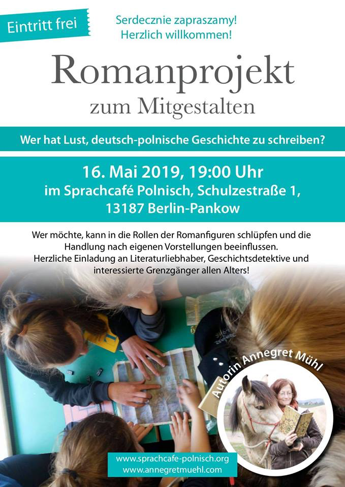 Plakat zum Romanprojekt im Sprachcafe Polnisch 2019