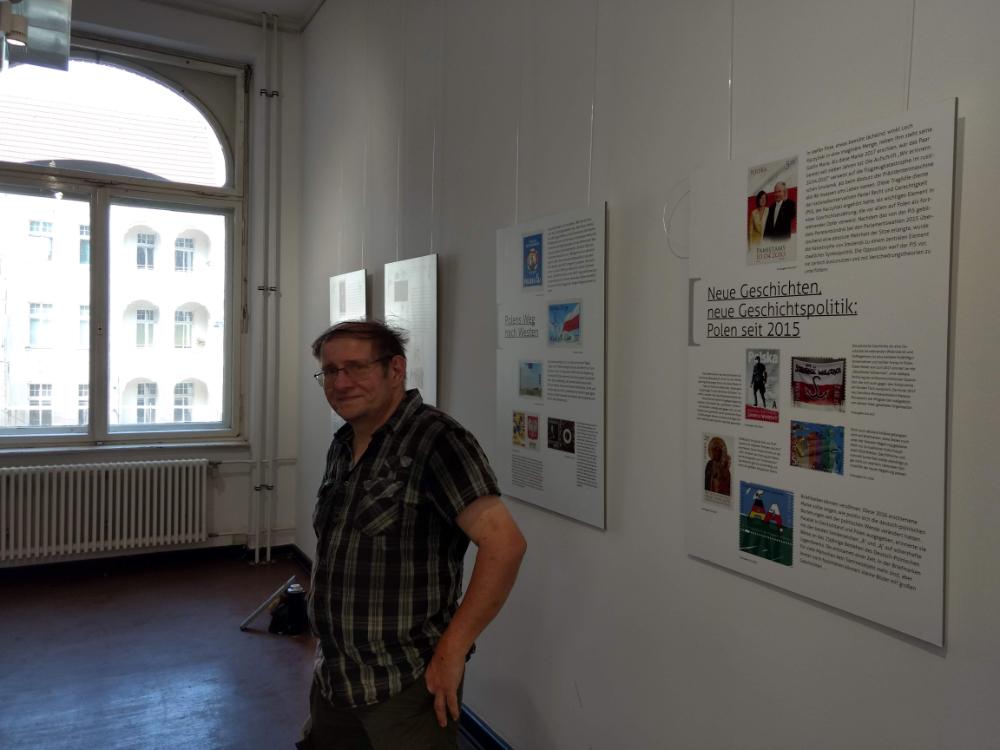Foto Aufbau Ausstellung