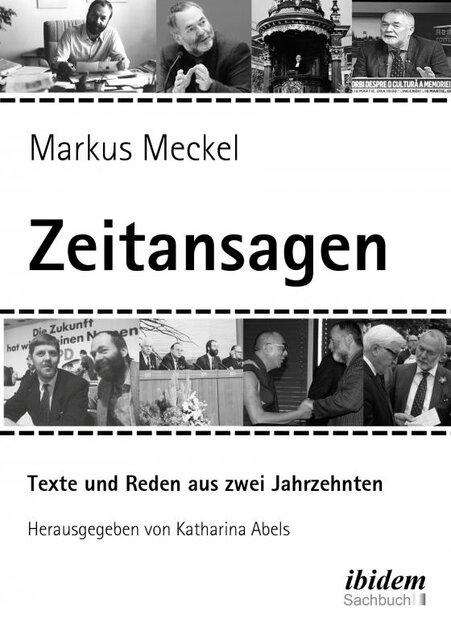 """Markus Meckel: Cover Buch """"Zeitansagen"""""""